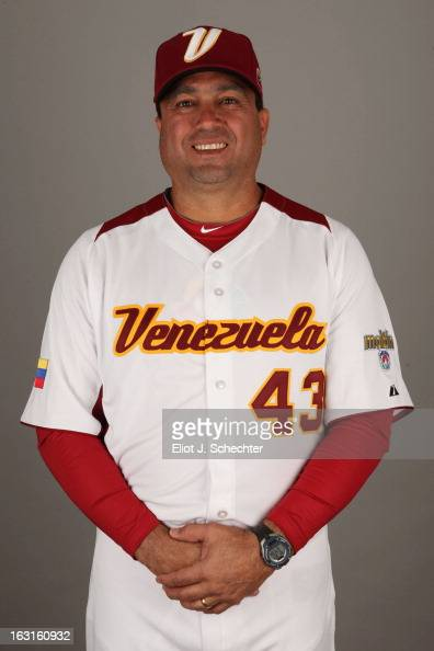 Luis Dorante of Team Venezuela poses for a headshot for the 2013 World Baseball Classic at Roger Dean Stadium on Monday March 4 2013 in Jupiter...