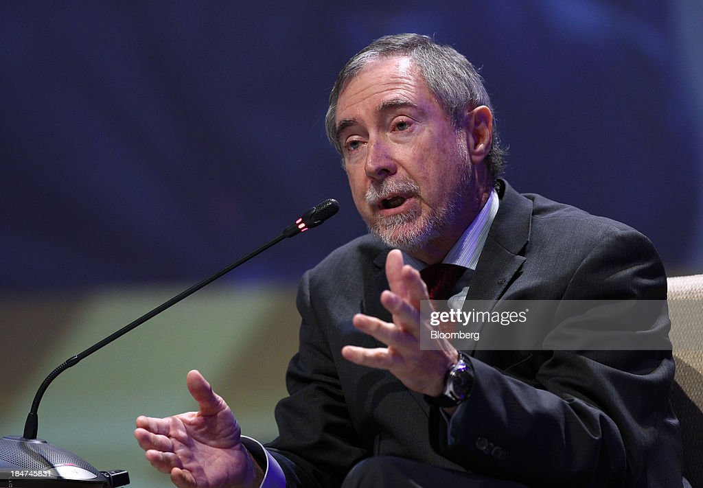 Luis Echavarri, director general of the Organization for Economic Cooperation and Developments (OECD) Nuclear Energy Agency, gestures as he speaks during the 22nd World Energy Congress (WEC) in Daegu, South Korea, on Wednesday, Oct. 16, 2013. The WEC, a global conference on the energy market, runs until Oct. 17. Photographer: SeongJoon Cho/Bloomberg via Getty Images