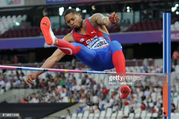 Luis Felipe Gutierrez of Cuba competes in the Men's High Jump T13 during day five of the IPC World ParaAthletics Championships 2017 at London Stadium...