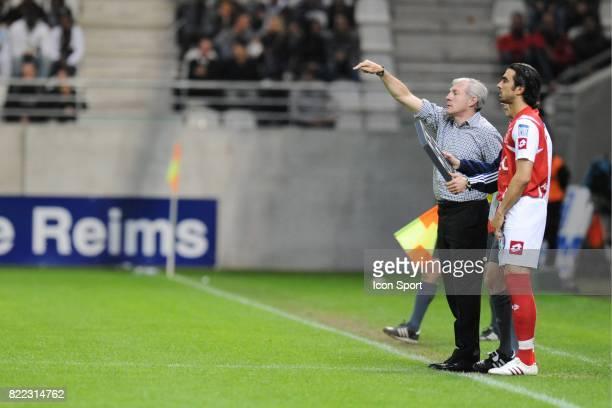 Luis FERNANDEZ / Cedric FAURE Reims / Tours 36 eme journee de Ligue 2 Stade Auguste Delaune Reims