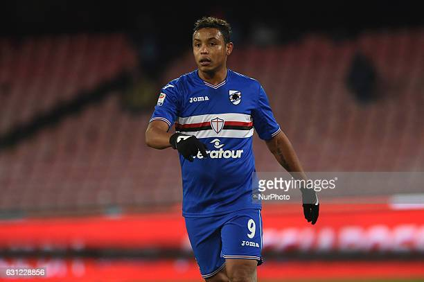 Luis Fernando Muriel of UC Sampdoria during the Serie A TIM match between SSC Napoli and UC Sampdoria at Stadio San Paolo Naples Italy on 7 January...