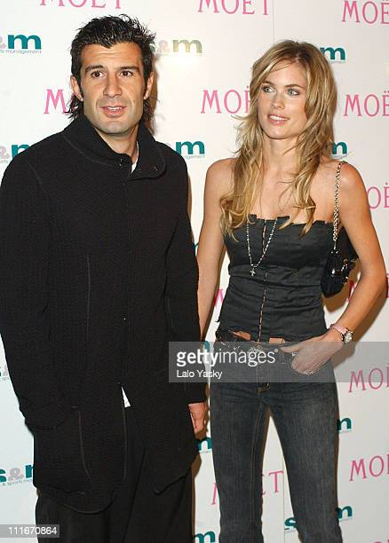 Luis Figo and Helen Svedin at 'SS M Personalities and Sports Management' and 'Moet Chandon' celebrate the contract between 'SS M' and Ronaldo Roberto...
