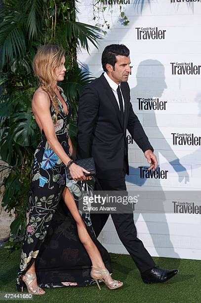 Luis Figo and wife Helen Svedin attend the VII Conde Nast Traveler Awards at the Giner de los Rios Foundation on May 7 2015 in Madrid Spain