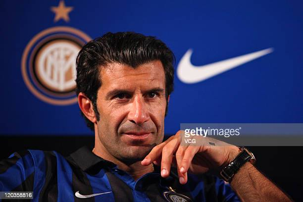 Luis Figo attends a NIKE commercial event on August 4 2011 in Beijing China