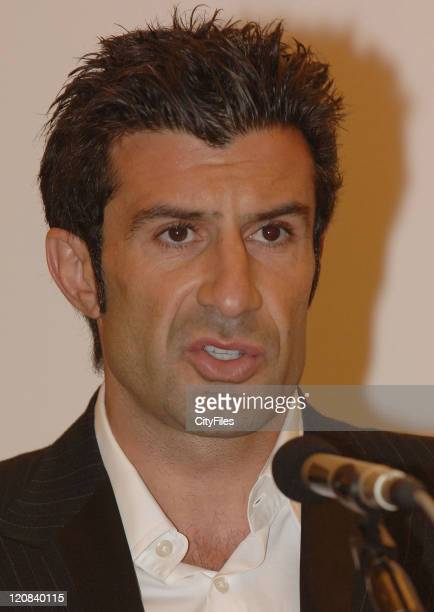 "Luis Figo during ""Swatch Perfect World"" Launch in Lisbon in Lisbon Portugal"