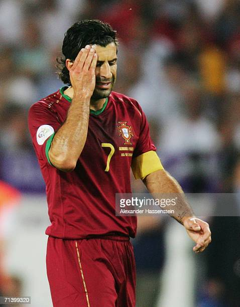 Luis Figo of Portugal during the FIFA World Cup Germany 2006 Third Place Playoff match between Germany and Portugal played at the GottliebDaimler...