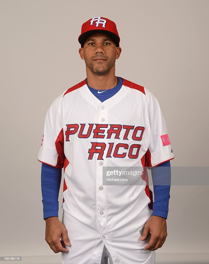 Luis Figueroa #3 of Team Puerto Rico poses for a headshot for the 2013 World Baseball Classic at the City of Palms Baseball Complex on Monday, March 4, 2013 in Fort Myers, Florida.