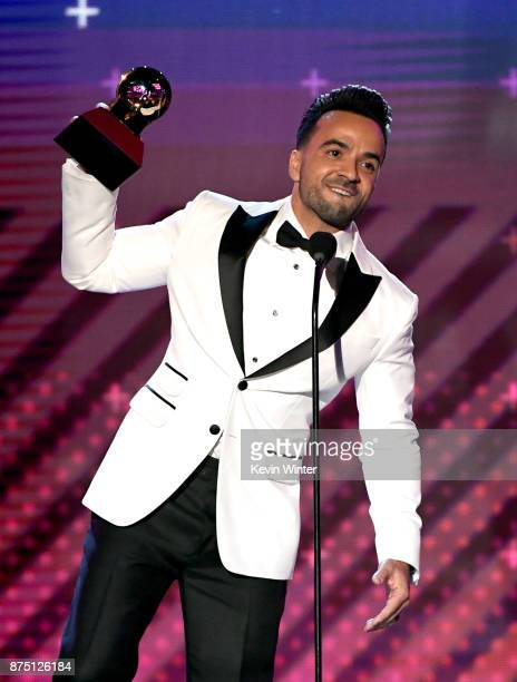 Luis Fonsi accepts Song of the Year for 'Despacito' onstage at the 18th Annual Latin Grammy Awards at MGM Grand Garden Arena on November 16 2017 in...