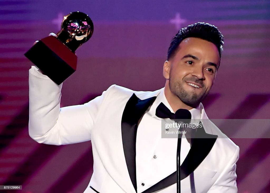 Luis Fonsi accepts Song of the Year for 'Despacito' onstage at the 18th Annual Latin Grammy Awards at MGM Grand Garden Arena on November 16, 2017 in Las Vegas, Nevada.