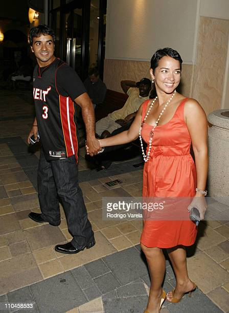 Luis Fonsi and Adamari Lopez during Luis Fonsi in Concert June 21 2006 at Hard Rock Live in Hollywood Florida United States