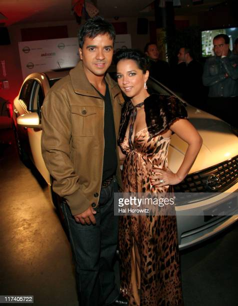 Luis Fonsi and Adamari Lopez during Voces del mas Alla November 2 2006 at AER Lounge in New York City New York United States