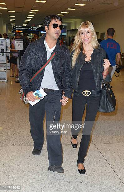 Luis Fonsi and Agueda Lopez are sighted at Miami International Airport on May 18 2012 in Miami Florida