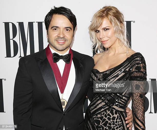 Luis Fonsi and Agueda Lopez arrive at the 23rd Annual BMI Latin Awards held at the Beverly Wilshire Four Seasons Hotel on March 2 2016 in Beverly...