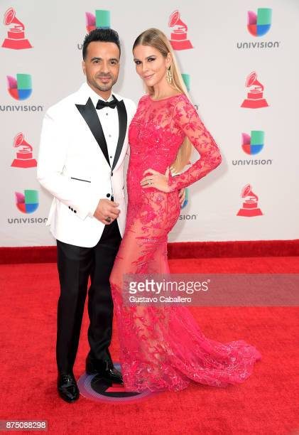 Luis Fonsi and Agueda Lopez attend the 18th Annual Latin Grammy Awards at MGM Grand Garden Arena on November 16 2017 in Las Vegas Nevada