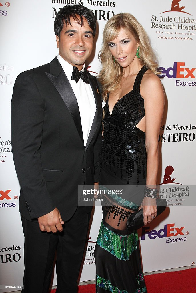 Luis Fonsi and Agueda Lopez attends 11th annual FedEx/St. Jude Angels & Stars Gala in Miami at JW Marriott Marquis on May 18, 2013 in Miami, Florida.
