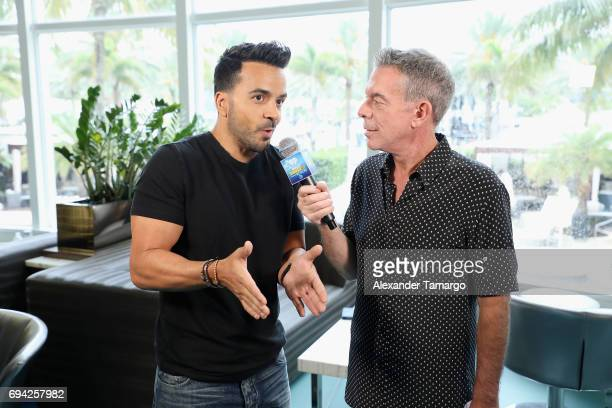 Luis Fonsi and Elvis Duran attend the iHeartSummer '17 Weekend By ATT Day 1 at Fontainebleau Miami Beach on June 9 2017 in Miami Beach Florida