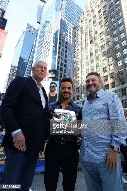 Luis Fonsi and Lyor Cohen Visit ABC's 'Good Morning America' at ABC News' Good Morning America Times Square Studio on August 16 2017 in New York City