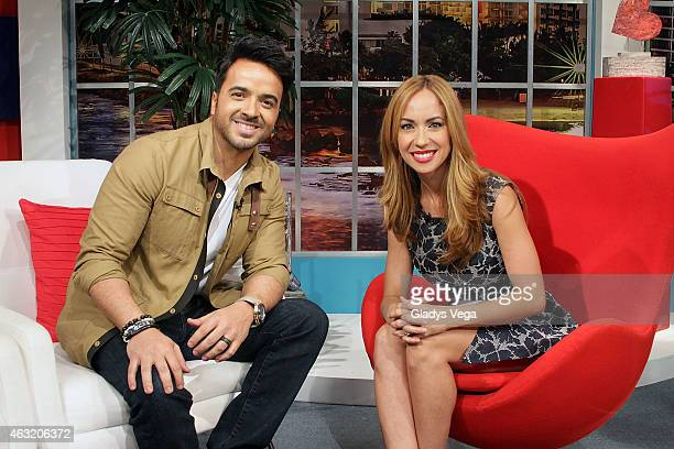 Luis Fonsi appears on Alexandra De Noche on February 11 2015 in San Juan Puerto Rico