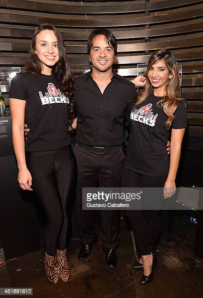 Luis Fonsi attends as Beck's Beer launches Live Beyond Labels Program with Aloe Blacc and Luis Fonsi at The Electric Pickle Company on July 8 2014 in...