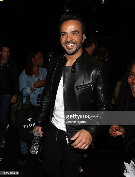 Luis Fonsi attends Tidal X Brooklyn at Barclays Center on October 17 2017 in the Brooklyn borough of New York City New York