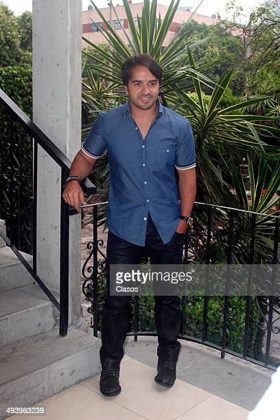 Luis Fonsi during a photoshoot as part of the presentation of his new album Deluxe on May 26 2014 in Mexico City Mexico