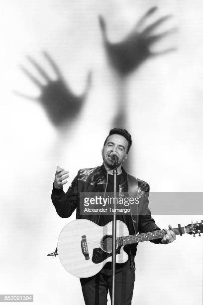 Luis Fonsi is seen performing on stage during the Love and Dance Tour at Hard Rock Live at Seminole Hard Rock Hotel and Casino on September 22 2017...