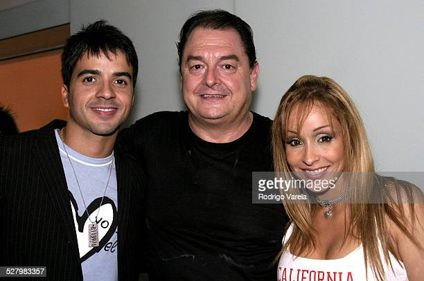 Luis Fonsi John Echevarria and Gisselle during 2004 Billboard Latin Awards Universal Music After Party at The Astor Hotel in Miami Beach Florida...