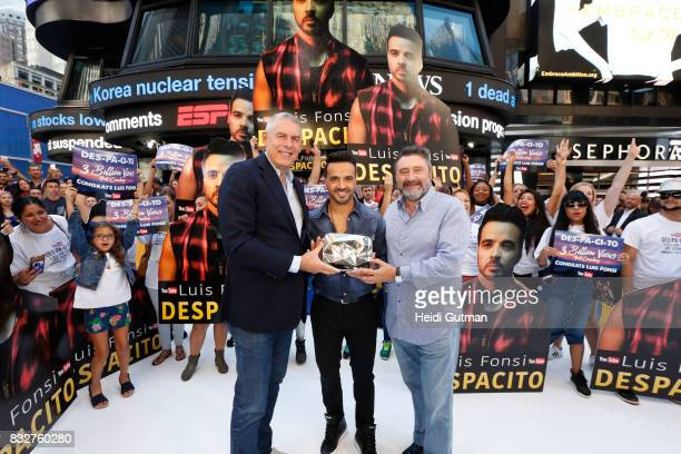 AMERICA Luis Fonsi performs his hit Despacito live on 'Good Morning America' Wednesday August 16 airing on the ABC Television Network Lyor Cohen...