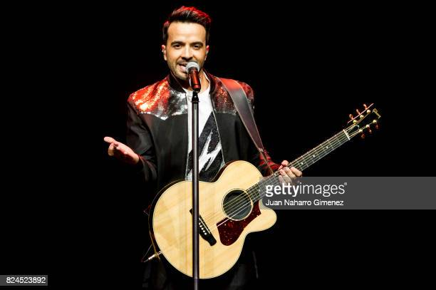 Luis Fonsi performs in concert at the Royal Theatre on July 30 2017 in Madrid Spain