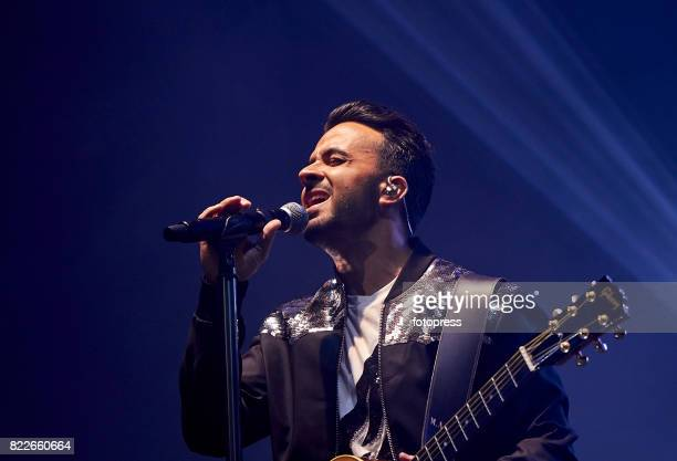 Luis Fonsi performs on stage at IFEVI on July 25 2017 in Vigo Spain