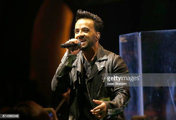 Luis Fonsi performs onstage at Spotify Celebrates Latin Music and Their Viva Latino Playlist at Marquee Nightclub on November 14 2017 in Las Vegas...