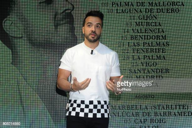 Luis Fonsi presents his 'Love Dance World Tour' and receives an award from the hands of Narcis Rebollo for 'Despacito' on June 30 2017 in Madrid...