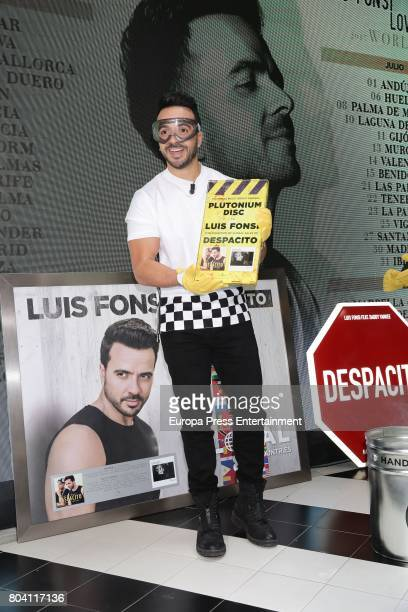 Luis Fonsi presents his 'Love Dance World Tour' and receives awards for 'Despacito' on June 30 2017 in Madrid Spain