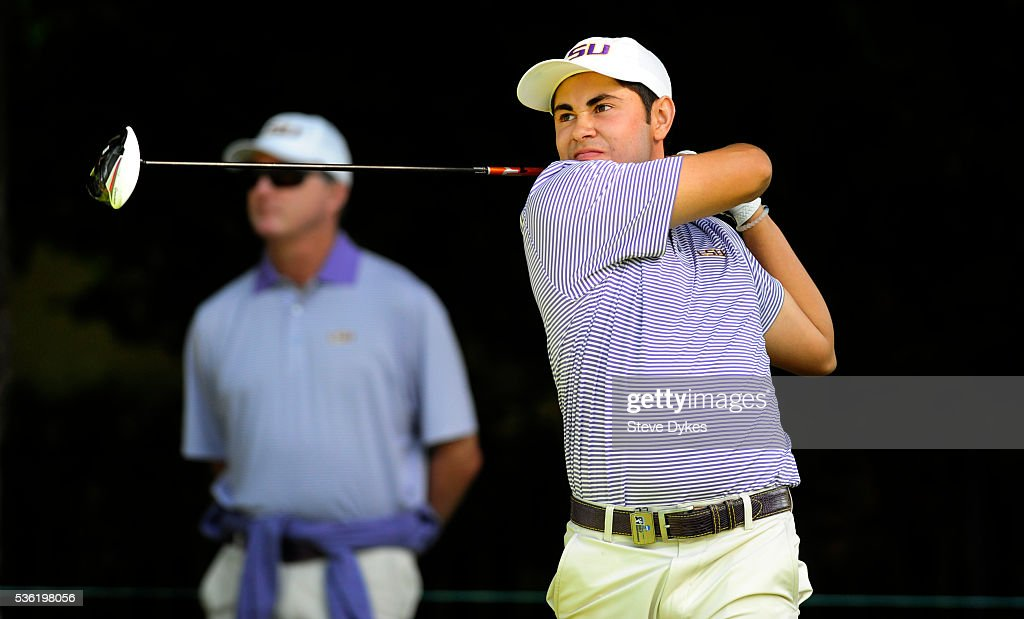 Luis Gagne of LSU hits his drive on the 17th hole during round three of the 2016 NCAA Division I Men's Golf Championship at Eugene Country Club on May 31, 2016 in Eugene, Oregon.