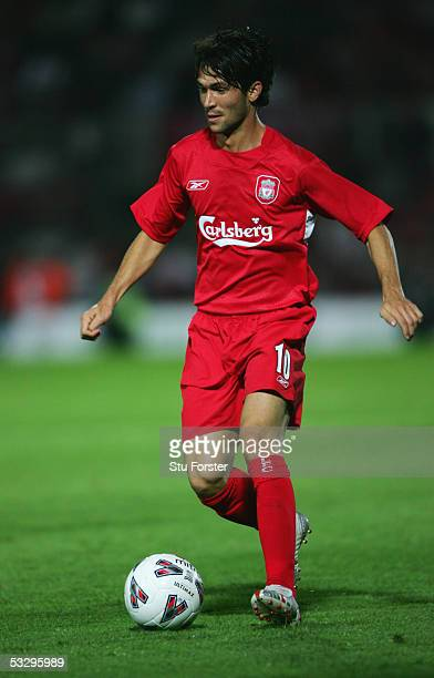 Luis Garcia of Liverpool in action during the UEFA Champions League 1st Qualifying Round Second Leg game between Total Network Solutions and...