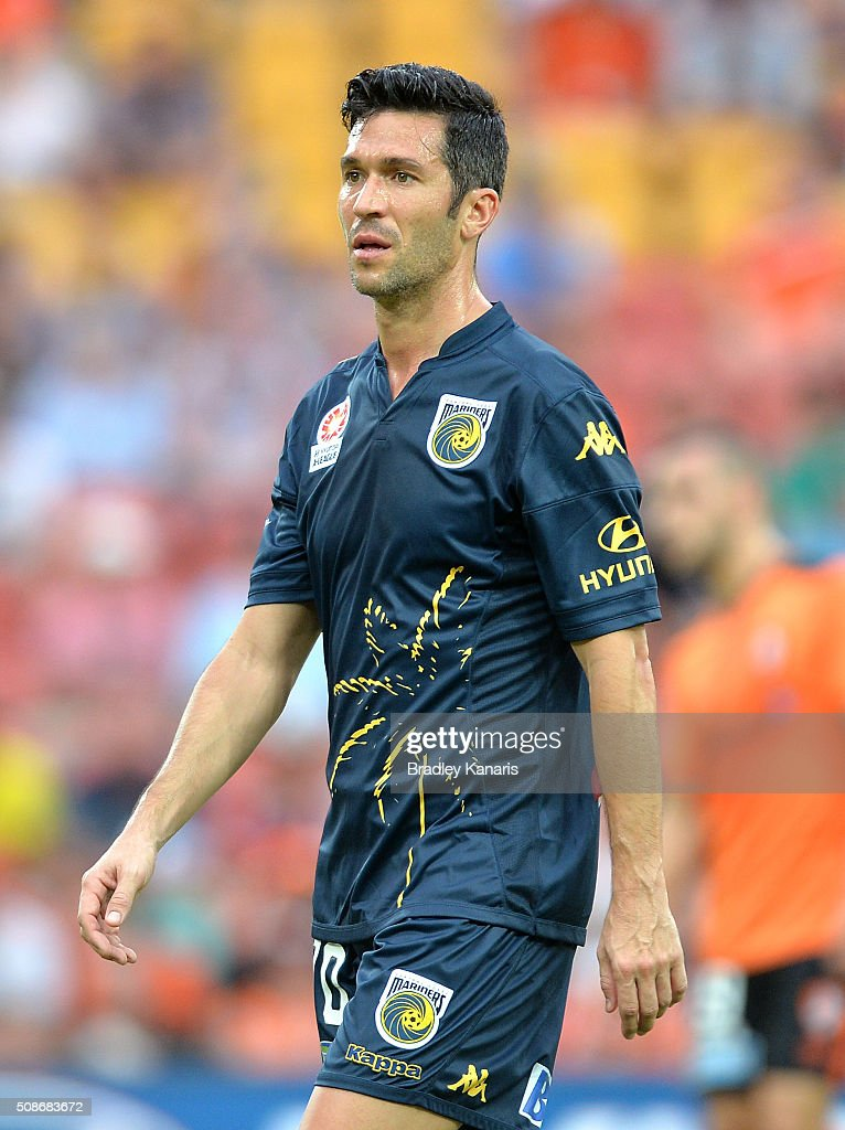 Luis Garcia of the Mariners during the round 18 A-League match between the Brisbane Roar and Central Coast Mariners at Suncorp Stadium on February 6, 2016 in Brisbane, Australia.