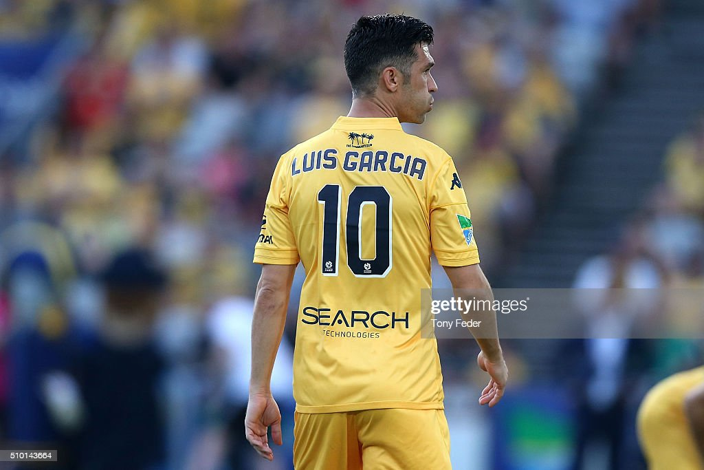 Luis Garcia of the Mariners during the round 19 A-League match between the Central Coast Mariners and Adelaide United at Central Coast Stadium on February 14, 2016 in Gosford, Australia.