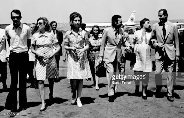 Luis Gomez Acebo his wife Pilar of Borbon sister of Prince Juan Carlos of Borbon Princess Sofia of Greece Carlos Zurita and his wife Margarita of...