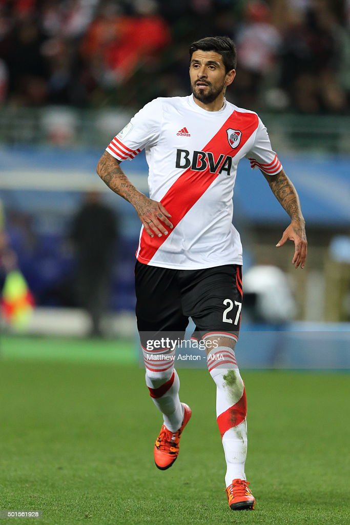 Luis Gonzalez of River Plate during the FIFA World Club Cup SemiFinal between Sanfrecce Hiroshima and River Plate at Osaka Nagai Stadium on December...
