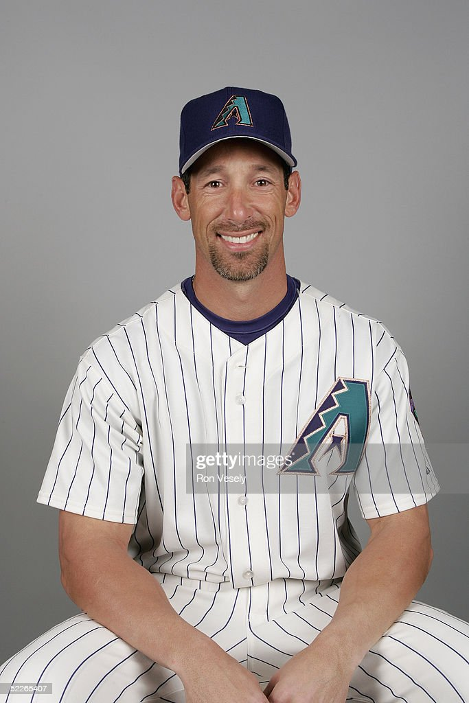 Luis Gonzalez of the Arizona Diamondbacks poses for a portrait during photo day at Tucson Electric Park on February 25 2005 in Tucson Arizona