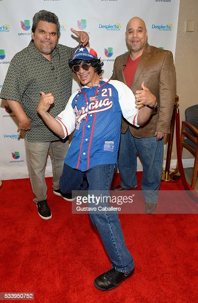 Luis GuzmanJohnny LozadaLuis Guzman and Edgar Garcia is on the set of Univision's 'Despierta America' at Univision Studios on May 24 2016 in Miami...