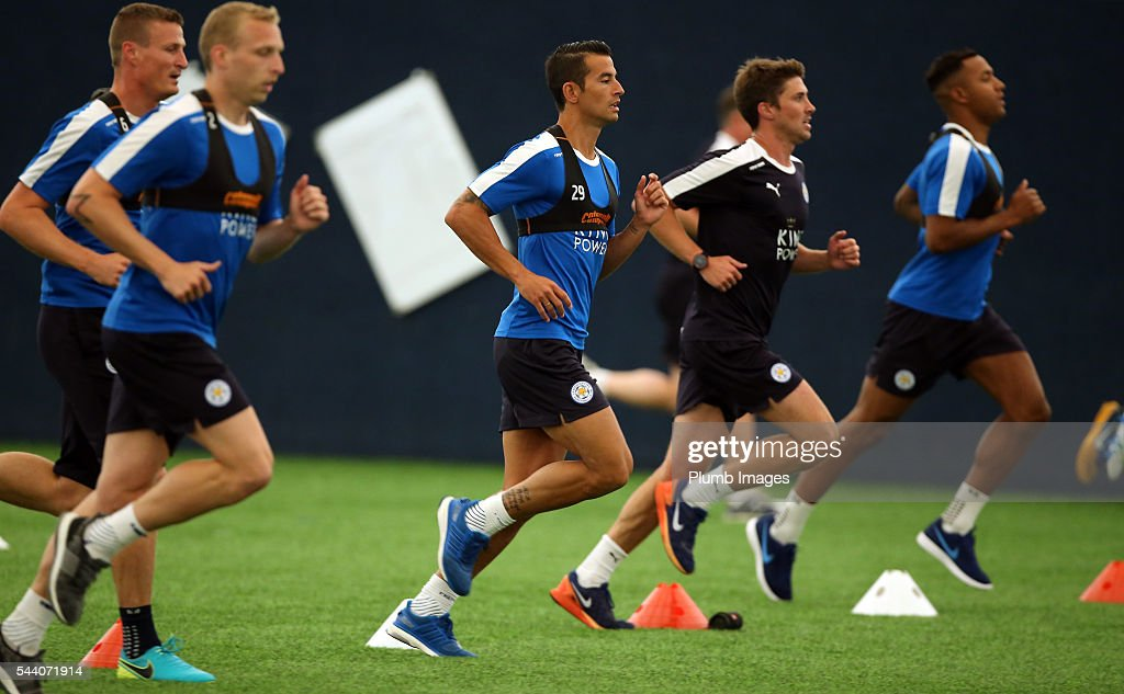 Luis Hernandez during the testing session as the first set of Leicester City Players return for pre-season at Belvoir Drive Training Complex on July 1, 2016 in Leicester, United Kingdom.