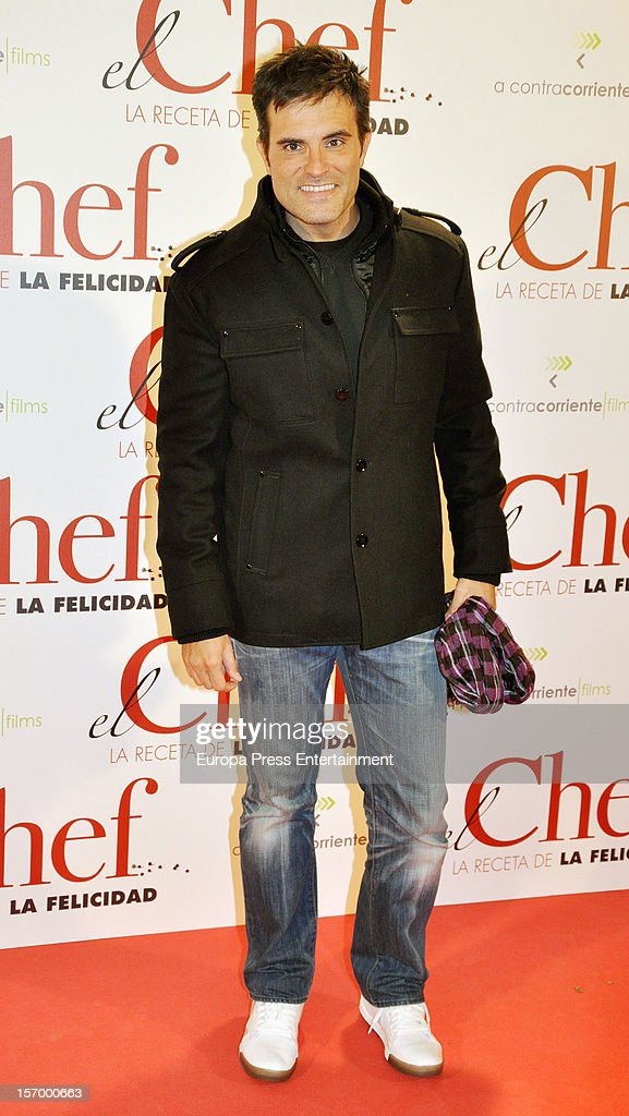 Luis Larrodera attends 'El Chef, La Receta de la Felicidad' premiere on November 26, 2012 in Madrid, Spain.