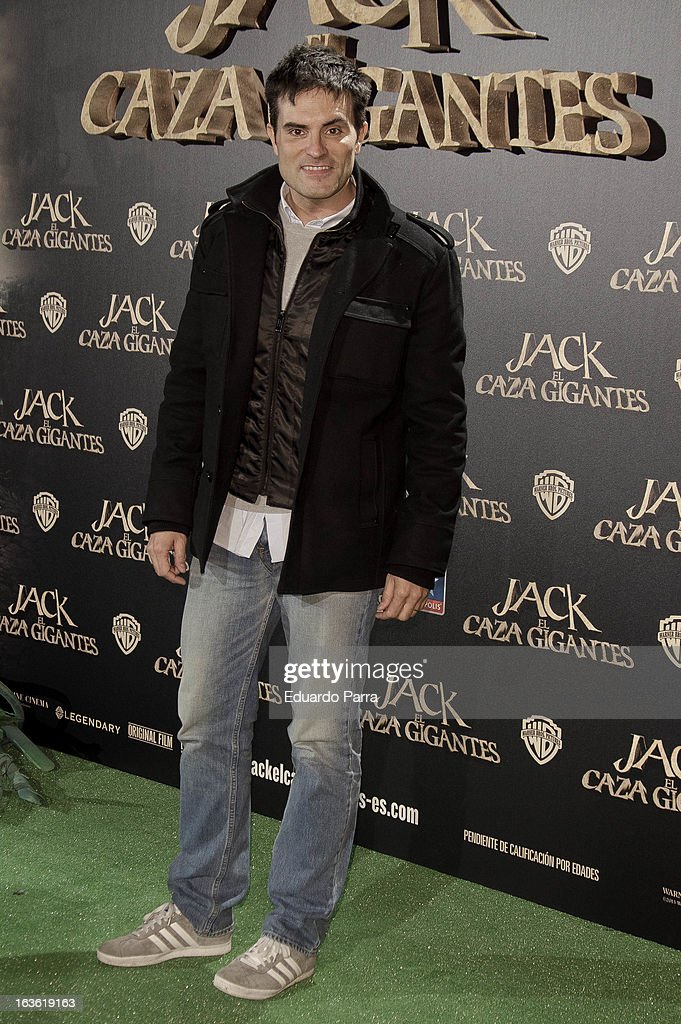 Luis Larrodera attends 'Jack el Caza Gigantes' premiere photocall at Kinepolis cinema on March 13, 2013 in Madrid, Spain.