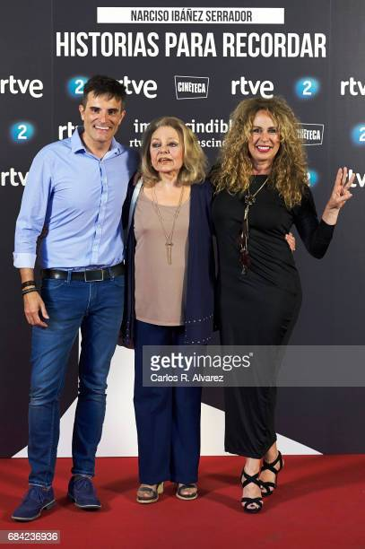 Luis Larrodera Mayra Gomez Kemp and Miriam Diaz Aroca attend the 'Imprescindibles' premiere at the Cineteca cinema on May 17 2017 in Madrid Spain