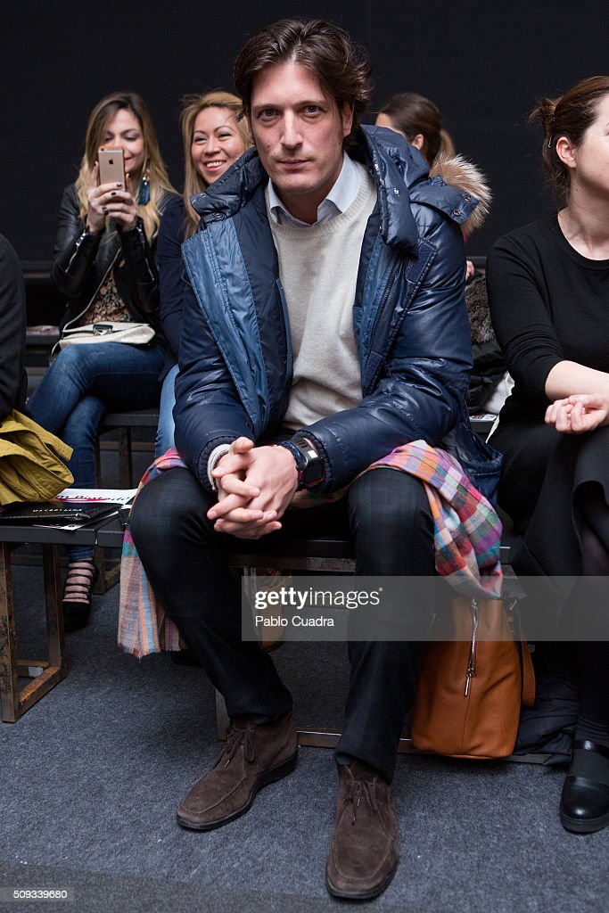 Luis Medina attends the Maybelline NY & Bloomers&Bikini Fashion Show during the MFShow on February 10, 2016 in Madrid, Spain.