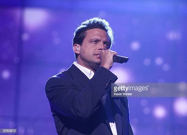 Luis Miguel at rehearsals for the 2nd Annual Latin Grammys at the Forum in Los Angeles CA Monday Sept 10 2001