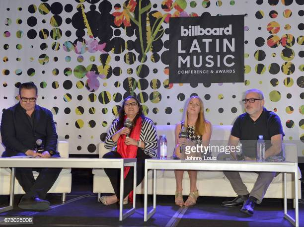 Luis Miguel Messianu Carleys Hepburn Tara King and Alberto Lorente during The Billboard Latin Music Conference Awards Marketing Panel/ Case Study...