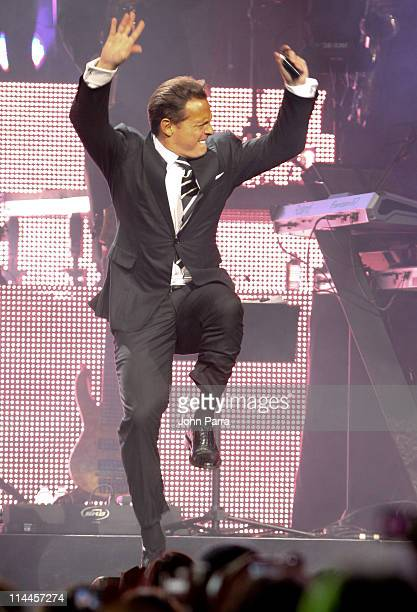 Luis Miguel performs at American Airlines Arena on May 19 2011 in Miami Florida