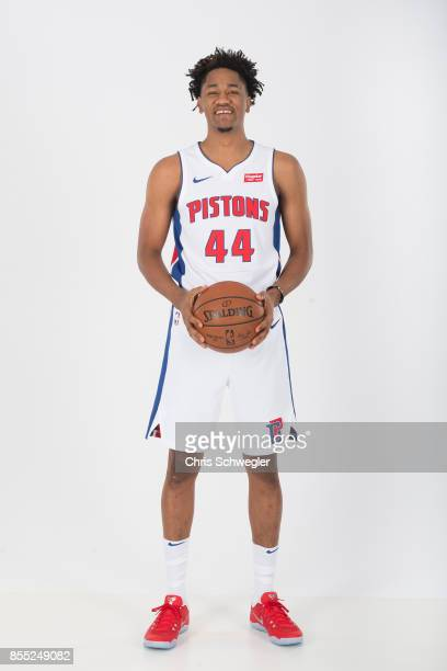 Luis Montero of the Detroit Pistons poses for a portrait during Media Day on September 25 2017 at the Little Caesars Arena Detroit MI NOTE TO USER...